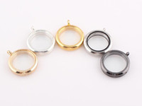 Trendy Fashion Charms Wholesale - 30MM Magnetic Floating Locket Glass Lockets Charms Locket Pendant Free shipping