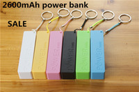 Cheap Brand New USB 2600mah power bank external backup battery for Mobile phone MP3 4 PSP with micro USB cable +retail box