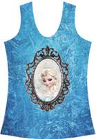 Women Tops Women EAST KNITTING V-176 New 2014 fashion Frozen Elsa mirror 3D printed women clothing punk sexy bustier crop top drop shipping