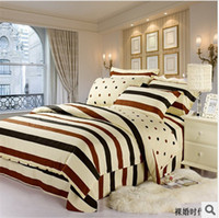 100% Cotton Hotal Adults 100% Conton Fashion Classic Brand 3D Bedding 4pcs Pure Cotton Satin Bedding Set Comforter Set Duvet Cover Set Bed Sheet B-002