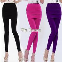 Nylon High Novelty 2014 New Women Nylon Full Skirt Footless Stretch Seamless Long Pants Legging pants 8069