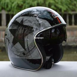 Cascos de carreras de la vendimia en Línea-envío gratuito casco capacetes vintage vetro hombre mujer's se derrumbó Racing de Cara Abierta casco Jet Casco casco de motocicleta Chopper