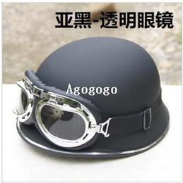 Cascos de moto de época en Línea-del alemán del vintage moto capacete casco de carretera cascos suciedad cascos motos moto para hombre en bicicleta moto Casco medio