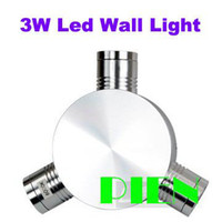 Clear Glass Modern Wall Mouted High Power Epistar Decorate 3W LED Wall Lamp residentialHall light Indoor aluminum 85-265V Warm|Cool White Free Shipping 1pc lot