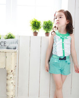 Cheap Wholesale-Exclusive!High Quality Wholesale 2014 Newborn Baby Girl Summer Clothes Fashion Lace Floral Newborn Clothes 0-24 Months JI79