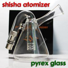 Top quality Pyrex glass shisha atomizer water pipe e shisha dry herb atomizer vaporizer pen vapor cigarettes kit for e cigarette ego battery