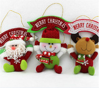 Wholesale Christmas Santa Claus Snowman Deer indoor Hanging Ornaments Decoration pendant for christmas tree gift children kids girls best gift