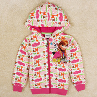 New Arrival Frozen Elsa Anna Jacket Girls Hooded Frozen Oute...