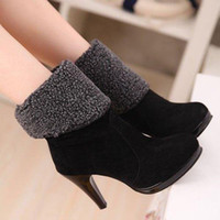 Half Boots Women Winter ENMAYER FreeShipping 2014 fashion sexy cheap high heels ankle boots, boots for women, martin boots