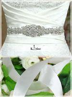 Wholesale 2015 Dazzling Bridal Sashes Beaded Gorgeous Wedding Belts Rhinestone Wedding Crystal Bridal Accessories For Wedding Dress