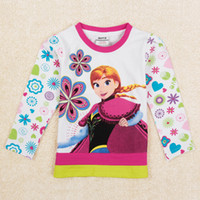 New Arrival Autumn Girls Clothing Frozen Children Long Sleev...