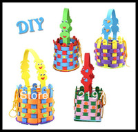 Wholesale New Arrival DIY eva basket handmade eva foam crafts kit stickers product Educational toys for Children