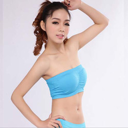Wholesale Sexy Strapless Sports Women Seamless Bandeau Tube Bra With Removable Pads