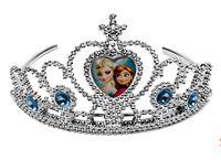 Tiaras Silver fashion Sparking Crystal Cubic Z Frozen Anna Elsa Tiara Crown Hair Band Accessory For Children Girl Mix Models