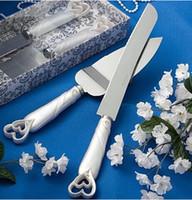 servers - Cheap Wedding Cake Knife and Server Set heart Handle Wedding Cake Serving Set wedding cake cutting knife pizza knife one one set