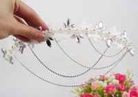 Fascinators Silk Flower  2015 #022 Free Shipping! Shining Wedding Bridal Accessories Crystal Veil Tiara Crown Jewelry Crystal Hair Accessories