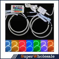 Wholesale Hot Sale E36 E38 E39 E46 SMD RGB Flash SMD LED ANGEL EYES HALO RINGS kit for BMW Set CARS0391 Superwholesale