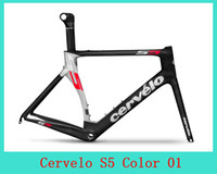 Wholesale 2014 S5 Full Carbon Road Bike Frames Road Racing Bicycle Bike Frames Bike frame Fork Red Carbon Fiber Tube with colors for choice