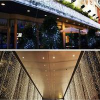 Wholesale Hot Sales m Led Curtain Light String Christmas Wedding Party Holiday Backdrop Decoration String Fairy Lights with US EU AU UK Plug V