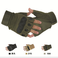 Wholesale Outdoor Sports Fingerless Military Tactical Airsoft Hunting Cycling Bike Gloves Half Finger Gloves