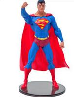 Wholesale DC Comics Superhero Superman cool PVC Action Figure Collectible Model Toy CM H