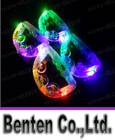 Wholesale Rattles flash tambourine light luminous hand led Tambourine light light up party tambourines led tamborine emitting Christmas LLFA7021
