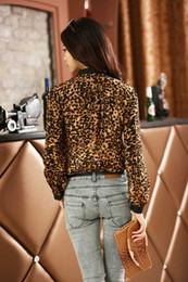 Wholesale New women Sexy Leopard shirt female long sleeved blouses chiffon blouse shirt M XXL S0496