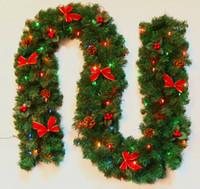 Wholesale Christmas rattan lighting cm meters lantern bow decoration Christmas rattan kg