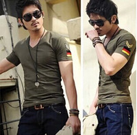 V-Neck air tee fitting - 2014 army military slim fit air forceT shirt New Men s Casual V Neck T Shirts Tee Shirts Slim Fit Tops Short Sleeve T Shirt