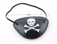 plastic pirate Halloween Hot sale pirate eye patch blinder One eyed person eye mask for Halloween Event & Party Supplies Free shipping