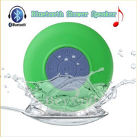 BTS-06 portátil impermeable inalámbrico Bluetooth coche de la ducha de manos libres Recepción de llamada música de succión teléfono mic con paquete de papel