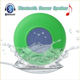 BTS-06 Portable Waterproof Wireless Bluetooth Speaker Shower Car Handsfree Receive Call & Music Suction Phone Mic with paper package