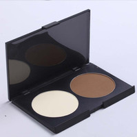 Wholesale Big discount Lady women Double color makeup rooming powdery cake Specular powder silhouette Christmas Gift