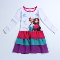 Autumn Frozen Tutu Princess Skirt Kid Girl Clothes Casual Dr...