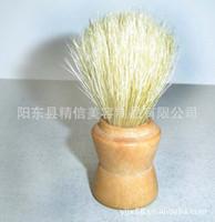 Wholesale Pure bristle brush supply wooden handle pure bristle shaving brush fine workmanship excellent quality shaving brushes