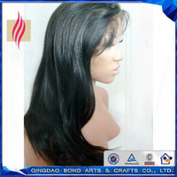 Wholesale Top Quality Virgin Brazilian Straight Front Lace Wigs Glueless Full Lace Wigs Remy Human Hair for Black Girl