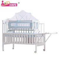 Wholesale Oh treasure wood crib baby cradle multifunction wood bed with mosquito nets to send factory outlets