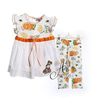 Wholesale EMS DHL sets Amissa toddlers baby girl Kids Infants orange pc set summer outfit chilfren clothes clothing