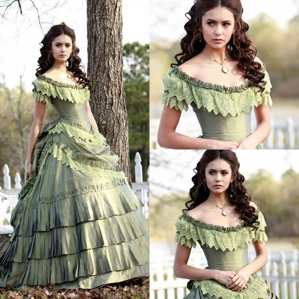 Vintage Nina Dobrev Victorian Era Ball Gown Corset Cap