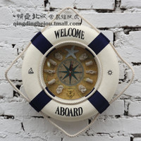 Mechanical Wall Clocks Yes Mediterranean style Swim ring Wall Clocks Home Decoration Photography furnishings ornaments Free shipping