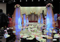 decoration - Wedding Centerpieces Mirror Carpet Aisle Runner Gold Silver Double Side Design T Station Decoration Wedding Favors Carpets New Arrival