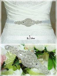 Shining Cheap Bridal Sashes Beaded Workmanship Sweet Bow Wedding Belts Elastic Satin Pearl Bridal Accessories For Wedding Dress