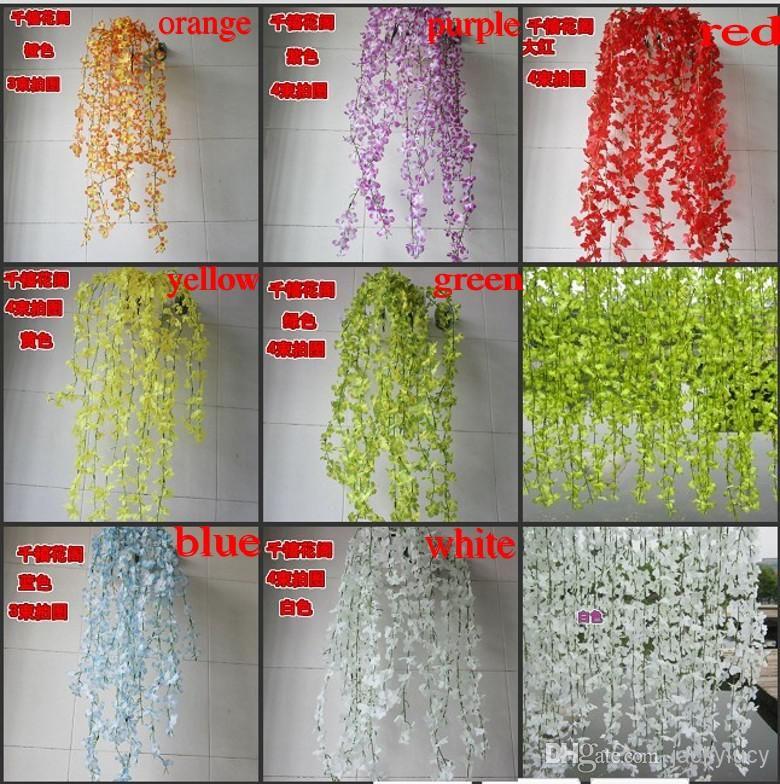 85cm 33 4inch Length Artificial Cherry Blossom Flower Vine Home Decorative Silk Flowers For Wedding Birthday Party Decoration