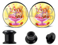 Cheap Wholesale-Wholesale- ice cream ear plugs and tunnels body jewelry piercing 10 sizes 6-25mm