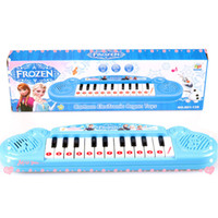 Wholesale Retail Frozen princess Anna Elsa Girls toys Children electronic organ Electronic keyboard cartoon Electone with music Song DHL