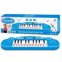 Wholesale Retail Frozen princess Anna Elsa Girls toys Children electronic organ Electronic keyboard cartoon Electone with music Song new