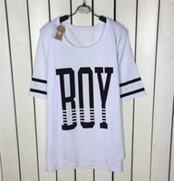 V-Neck Regular Acetate New Summer 2014 Women Clothing Korea Punk Loose Letter Print Plus Size Tops Casual O-neck T shirts t-shirt Pullover T10-223