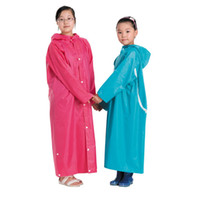 Wholesale YW809 CPAM Waterproof Polyester PVC Colors Children Students Backpack Rain Poncho Raincoat Factory Price OEM