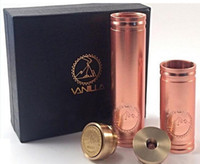 Cheap Vanilla copper mech mechanical mod clone e cig vaporizer pen ecig VS stingray nemesis 26650 panzer and kayfun atomizer free dhl (0207064) 2