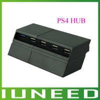 Wholesale High Quality New Black Port USB Expansion USB Hub for Sony Playstation PS4 quality first